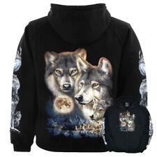 New Wolf Moon Hoodie Hooded Top Sweatshirt Zipped Wild Hoodie