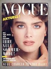 Vogue Magazine - March, 1984 ~~ Brooke Shields ~~ German, Germany, Deutsch Vogue