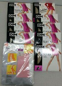 Dim Sublim  9 Pair15 D/17 D TEX  1 Pink  Falke   Figurzwickel 20 Den  Vintage