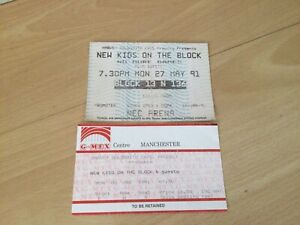 New Kids On The Block Concert Tickets 1991