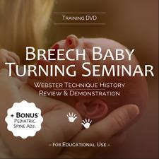 Breech Baby Turning Seminar Dvd Bonus Pediatric Spine Adjusting Chiropractic