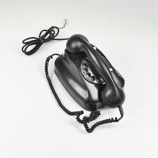 Siemens Fg Tist 282b - Black - Old Telephone With Dial - Vintage