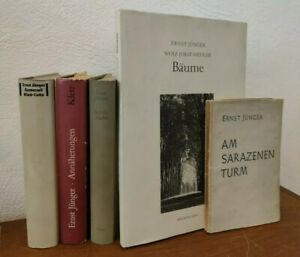 Konvolut 5 Bände Ernst Jünger Sarazenen Eumeswil  Annäherungen Jagden Bäume