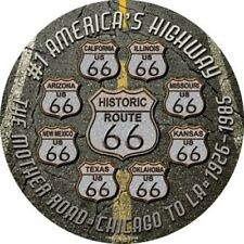 "Route 66 #1 America's Highway 12"" Round Metal Sign Novelty Retro Home Wall Decor"