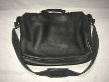 Vintage Men's Black Leather USA Coach Musette Messenger Satchel Bag