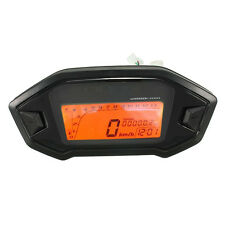 Motorcycle Odometer Speedometer Tachometer Gauge Universal LCD Digital Backlight