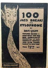 1926~100 Jazz Breaks for Xylophone~Vintage Booklet~Cover of Devil Spewing Music