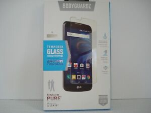 New BodyGuardz Pure Tempered Glass Screen Protector for LG K10