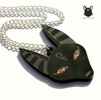 Anubis Halskette ägyptisch Ancient Egypt Necklace Kette Hund Schakal Ägypten