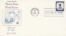 USA 1971  Inauguration of the United States Postal Service.  FDC