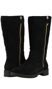 Vionic Orthaheel MYSTIC MICA Weather Resist Suede Lined Boots BLACK 9 MED NIB
