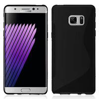 Housse Etui Coque TPU Silicone Gel S-Line NOIR pour Samsung Galaxy Note FE