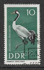 GERMAN DEMOCRATIC REPUBLIC USED STAMP 1967 - PROTECTED BIRDS - GRAY CRANE