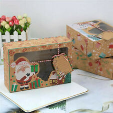 12 Christmas Candy Cookie Boxes Bakery Gift Boxes Cupcake Muffin Cake Boxes