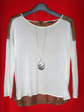 TALLY WEIJL OVERSIZED SHIRT TUNIKA SPITZE ROMANTIK BoHo S 36 38 NEUW.!! TOP !!