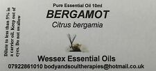 Bergamot (FCF) essential oil 10ml bottle