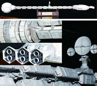 Film 2001 A Space Odissey USS Discovery XD-1 Spaceship 60cm 3D Paper Model Kit