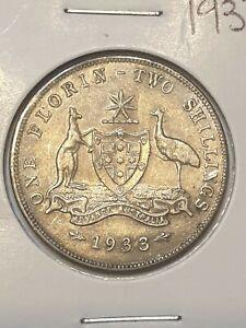 1933 australian florin coin