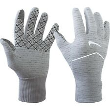 NIKE SPHERE Womens DriFit Touch Screen Reflective Running Gloves Heather Grey M