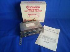 SONAVOX S-1005 Autoradio Vintage AM-FM Cassette GIACENZA Nuova per Auto d'epoca