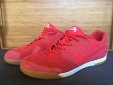 Nike SB Lunar Gato Sz 11 Indoor Soccer Futsal Street Shoes Men's Red Gum