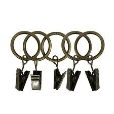 14Pcs Stainless Steel Window Shower Curtain Rod Clips Hook Clips Bronze 1.5""