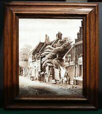 "Delft Grosse Keramik Bildplatte Jan Dessens "" Pittoresk "" Porceleyne Fles !!!"
