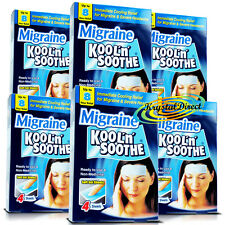 6x Kool n Soothe Cooling Migraine Headache Pain Relief Gel 4 Sheets (24 Pads)