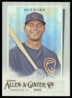 2020 Topps Allen and Ginter Hot Box Silver #199 Nico Hoerner RC - Chicago Cubs