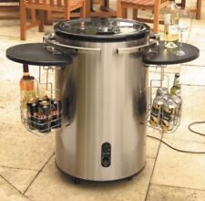 STAINLESS STEEL MOBILE HOT TUB SPA BAR PARTY BEER WINE DRINKS COOLER FRIDGE