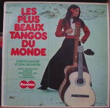 LES PLUS BEAUX TANGOS DU MONDE CARLOS SABATER CHEESECAKE COVER FRENCH LP