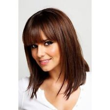 100% Real Hair! Deep Brown Silky Straight Graceful Capless Women Wig Hair