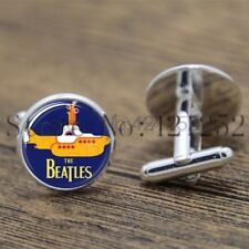 Cufflinks Glass Silver The Beatles New & Sealed