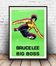 Big Boss, Bruce Lee, reproducción de películas de publicidad cartel vintage
