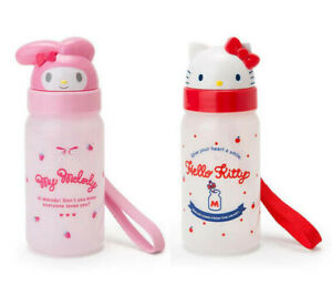 Japan Sanrio My Melody / Hello Kitty Plastic Straw Water Bottle 350ml