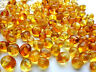 NATURAL BALTIC AMBER HOLED LOOSE ROUND HONEY BEADS 5 gr ABOUT 60 BEADS