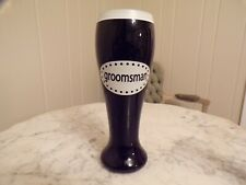 New Black Groomsman Beer Glass