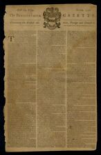POSTMASTER BENJAMIN FRANKLIN 1754 PENNSYLVANIA GAZETTE PRINTED BY BEN FRANKLIN