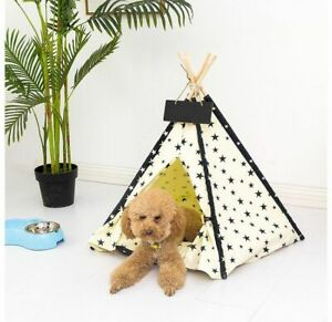 Indoor Dog House Tent Bed Pet Portable With Thick Cushion Puppy For Large Breed