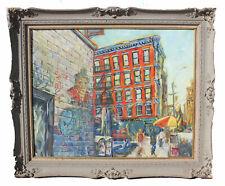 """Original VOORHEES, Eleanor """"NYC at Crosby St."""" (Soho) Oil on Masonite 24'' x 30"""""""