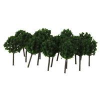 50pcs Dark Green Model Trees - Z Train Layout Street Scenery Wargame Diorama