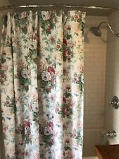 Waverly vintage Floral fabric shower curtain