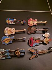 Hard Rock Cafe 1990s-2000s Set of 8 GUITARS PIN LOT Collection