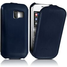 Cover Case Hard Case For Flap Blue Dark For Nokia Asha 302 + Film Lower