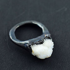 Natural Spirit Quartz Cocktail Untreated Handmade Antique Fashion Gemstone Ring