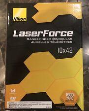 NIKON LaserForce 10x42 Rangefinder Binoculars #16212 Black