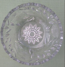 Collectible Cut Glass Bowl - Beautiful design, heavy glass