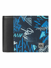 QUIKSILVER MENS WALLET.NEW FRESHNESS BLUE MONEY NOTE COIN CARD PURSE 7W 561 BRQ8