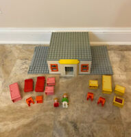 Vintage Playmobile Geobra 123 Family House Figures Furniture Accessories Lot