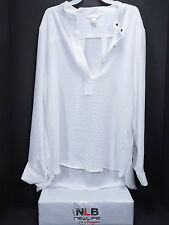 H&M Long Sleeve blouse Gold Buttons Size 14